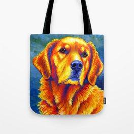 Faithful Friend - Colorful Golden Retriever Tote Bag