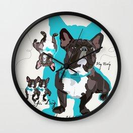 Chauncey Loves You - French Bulldog Wall Clock