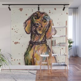 Hungarian Vizsla Dog Closeup Wall Mural