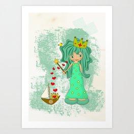 green princess Art Print