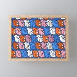 retro squirrels- pattern Framed Mini Art Print
