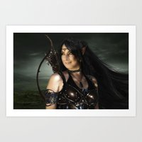 elf Art Prints featuring ELF by BabsArtCreations