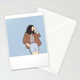 Feeling Blue - OOTD - Fashion Style Art Stationery Cards