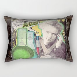 "Marie Curie- ""Back Off Man...I'm a SCIENTIST!"" Rectangular Pillow"