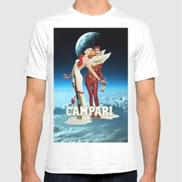 Classic Campari Alcoholic Angel & Devil - Earth, Sun, and Stars Aperitif Advertising Vintage Poster T-shirt