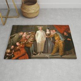 "Antoine Watteau ""The Italian Comedians"" (I) Rug"