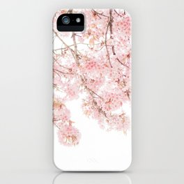 Pink Blooming Cherry Trees iPhone Case