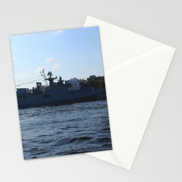 "The military ship ""Admiral Makarov"" 799. The Neva River. Stationery Cards"