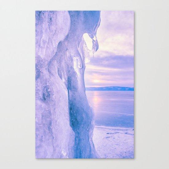 Ice cliff of Lake Baikal Canvas Print