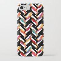herringbone iPhone & iPod Cases featuring herringbone penguin by Sharon Turner