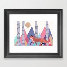Fox stroll Framed Art Print
