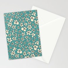garland flowers blue Stationery Cards