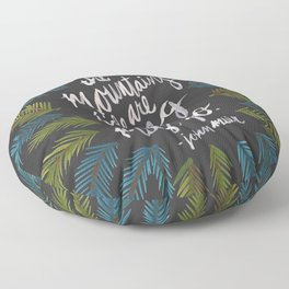 Mountains Calling – Charcoal Floor Pillow