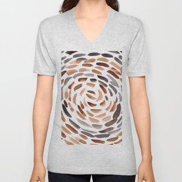 6   190510 Watercolor Abstract Pattern Swirl Unisex V-Neck