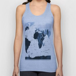 ALLOVER THE WORLD-Woods fog map Unisex Tank Top