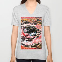 The flame in the look Unisex V-Neck