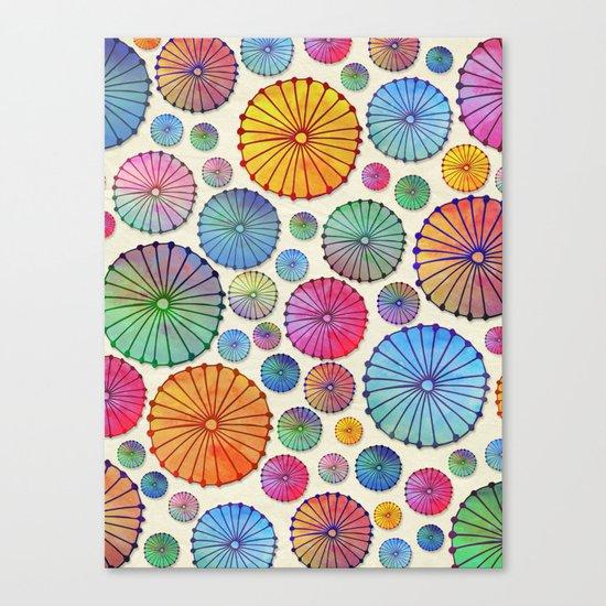 Coctail Umbrellas - Summer Memories Canvas Print