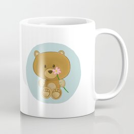 Bear holding flower Coffee Mug