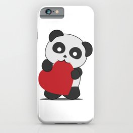 Panda love iPhone Case