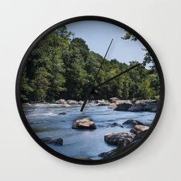 Farmington River Flowing Wall Clock