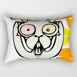 Panic Bunny Rectangular Pillow