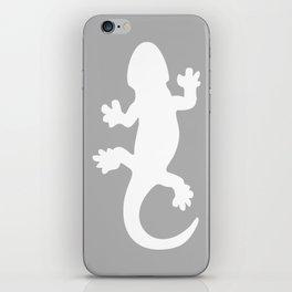 Whtie and Grey Lizard iPhone Skin