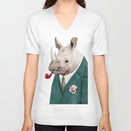 Rhinoceros Unisex V-Neck