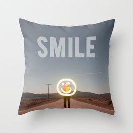 H.S. SMILE Throw Pillow
