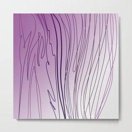 zebra stripes zebra skin  pink Metal Print