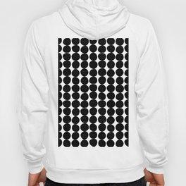Midcentury Modern Dots Black and White Hoody