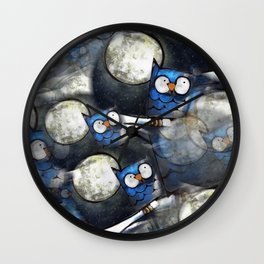 Owl Painting Pattern Wall Clock