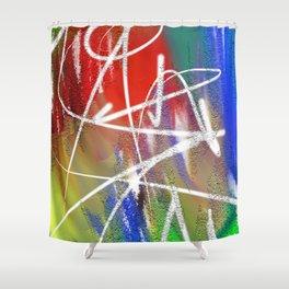 Abstract Urban Art Shower Curtain