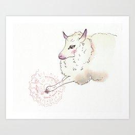 Wise Sheep Art Print