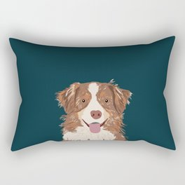 Hollis - Australian Shepherd gifts for dog owners pet lovers dog people gifts for dog person Rectangular Pillow