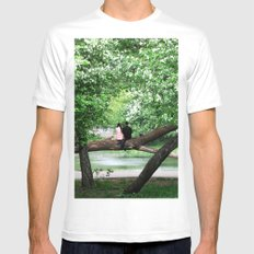 Enjoying the spring Blossoms White MEDIUM Mens Fitted Tee