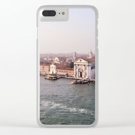 Venice Sunrise Clear iPhone Case