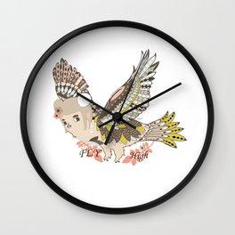 Flying high (a little girl) Wall Clock