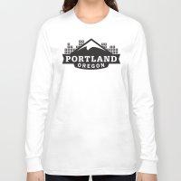 portland Long Sleeve T-shirts featuring Portland Logo by Corey Price