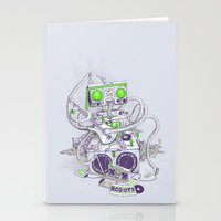 hippy Stationery Cards featuring Hippy robot by Mathijs Vissers