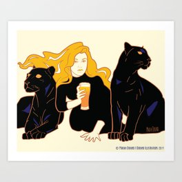 Panther Brews Art Print