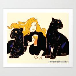 Panther Brews Art Print