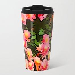 Painted Flowers of Autumn Travel Mug