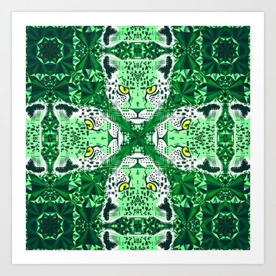 Emerald Leopard  Art Print