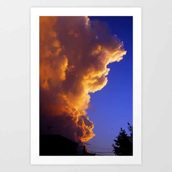 That old sky Art Print