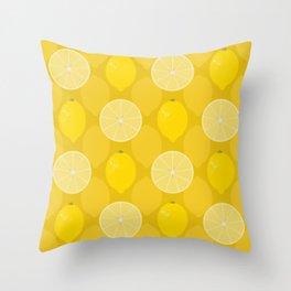 Lemon Zest Throw Pillow