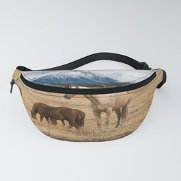 Mountain Horse - Western Style in the Grand Tetons Fanny Pack