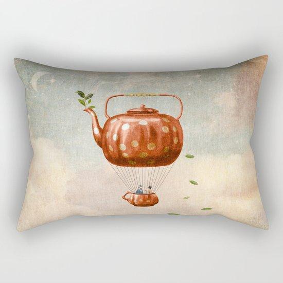 Tea for Two at Dusk Rectangular Pillow