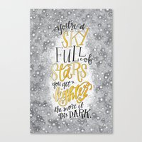 coldplay Canvas Prints featuring A Sky Full Of Stars [Coldplay] by Jillian Kaye