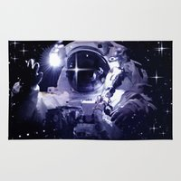 astronaut Area & Throw Rugs featuring ASTRONAUT. by capricorn