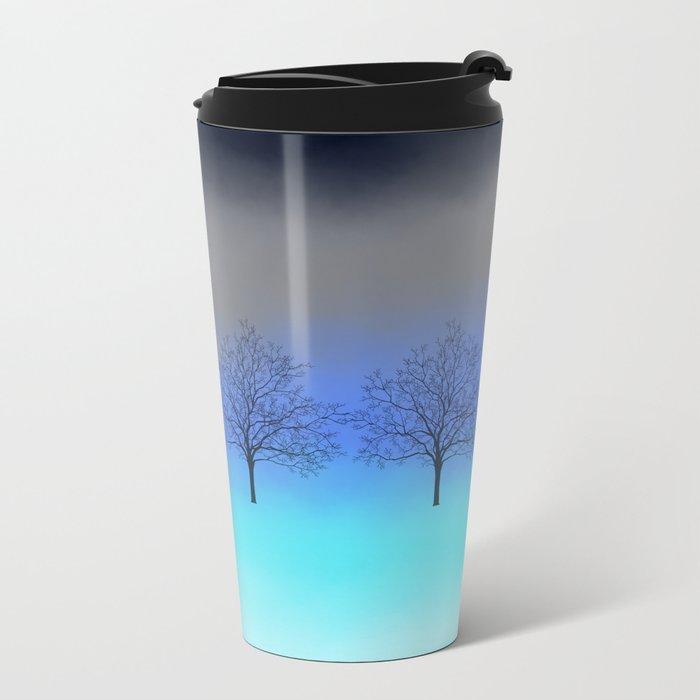 Abstract trees Metal Travel Mug